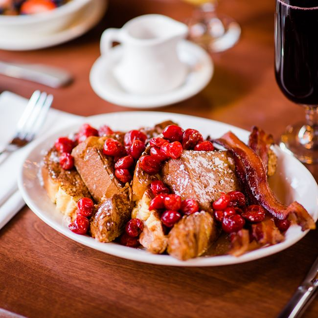 Door County Cherry Stuffed French Toast at White Gull Inn
