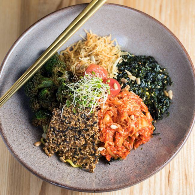 Kimchi Sesame Noodle at Char'd