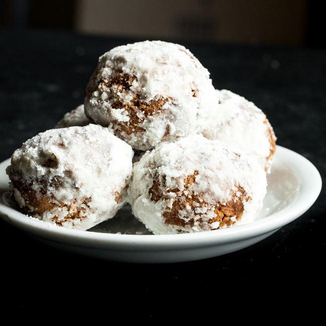 Vegan Mango Donut Holes at Strange Matter
