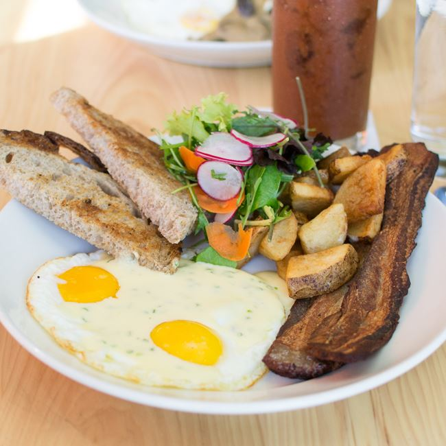 Two Eggs & Toast at Oliver's Public House