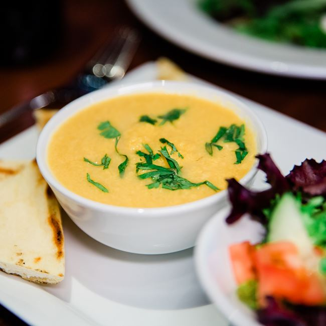 Soup and Salad at Root Bistro & Wine Bar