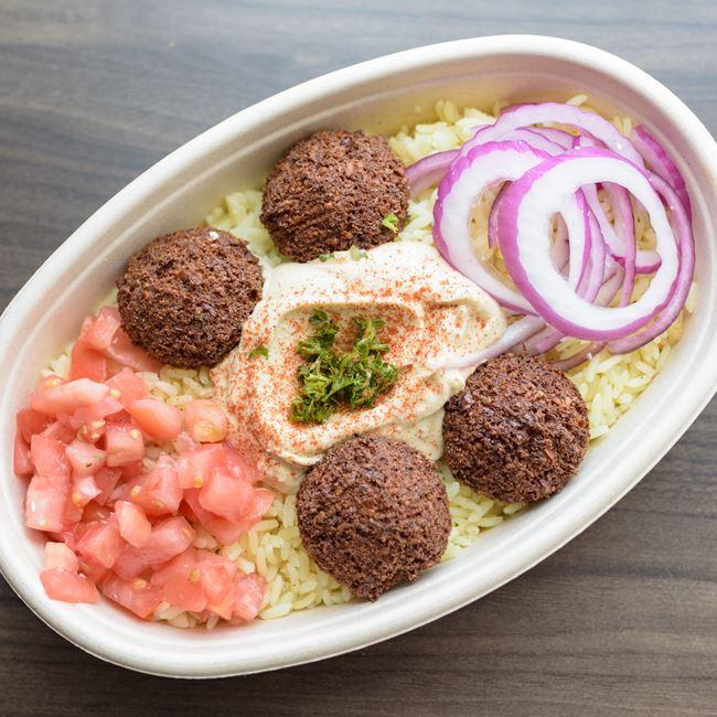Falafel Bowl at Baba Dari Mediterranean Grill