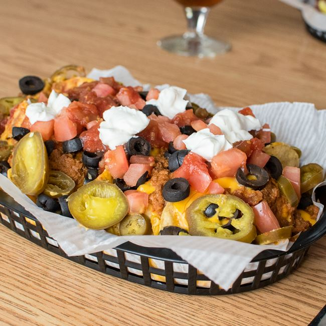 Nachos Grande at Sunset Bar & Grill