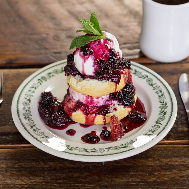 Berry Shortcake at Fuel Café