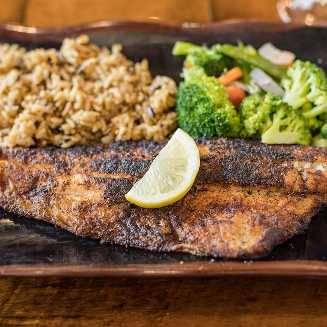 Blackened Walleye at Cowboy Jack's Saloon