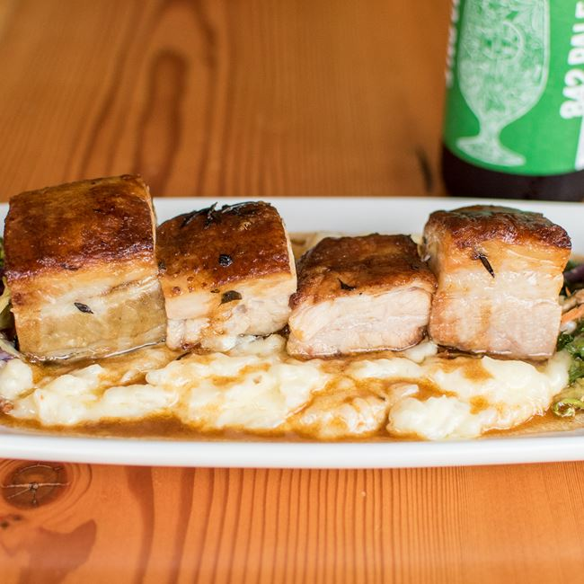 Pork Belly at TJ's Harbor Restaurant
