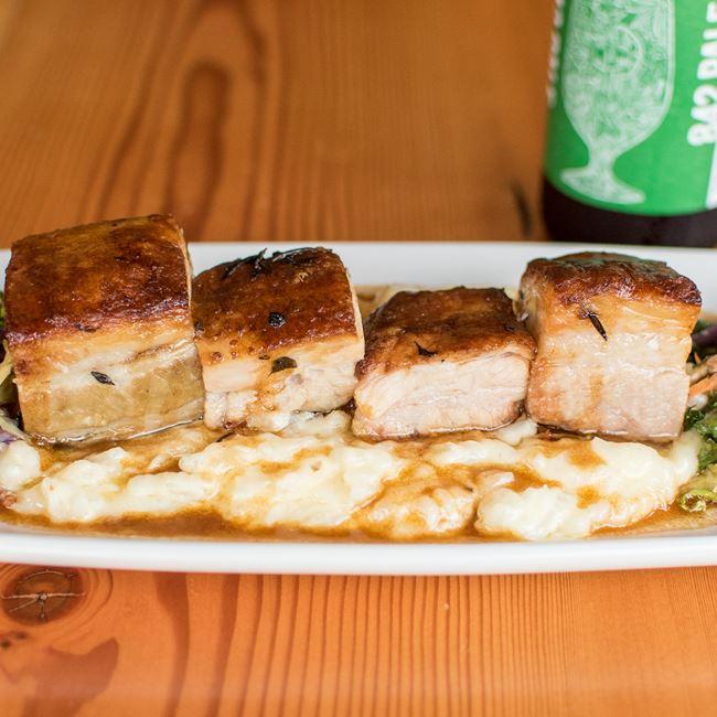 Pork Belly at TJ's Harbor Restaurant