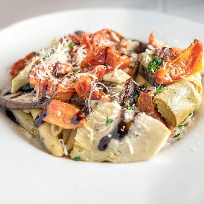 Portobello Penne at Benvenuto's Italian Grill