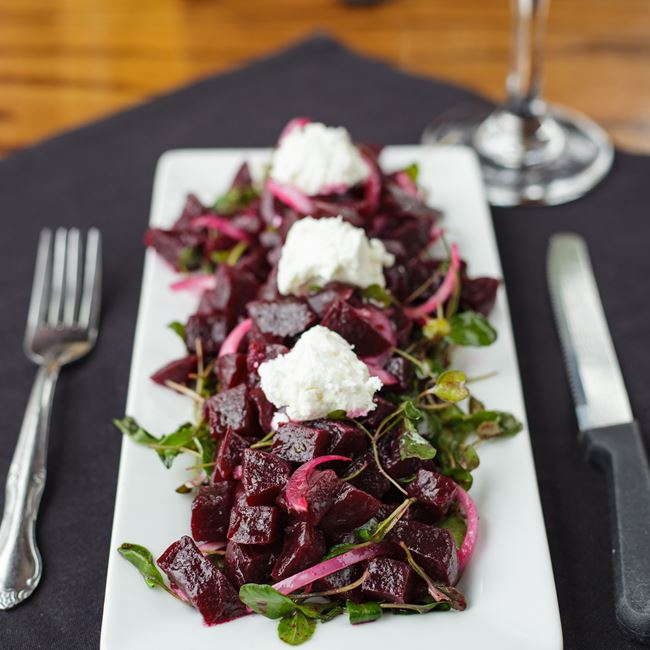 Mixed Beet Salad at Minocqua Brewing Company