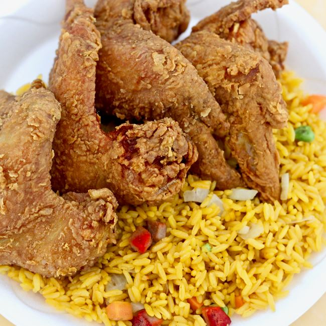 Chicken Wings and Fried Rice