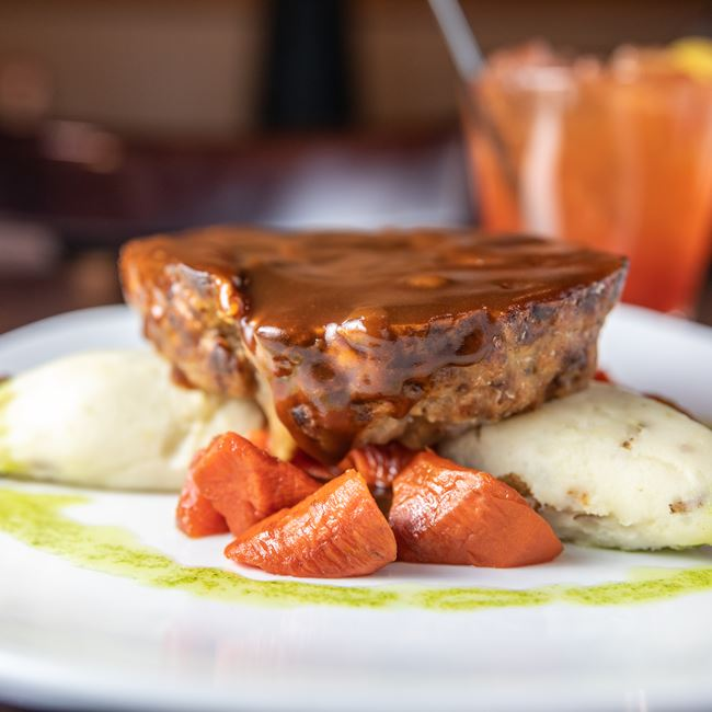 Mushroom and Swiss Meatloaf at Mahoney's Restaurant and Bar