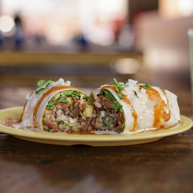 Carne Asada Burrito at BelAir Cantina