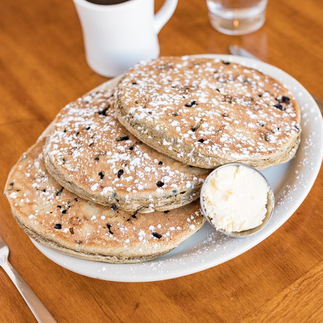Blue Bucks Buckwheat Pancakes at The Nucleus