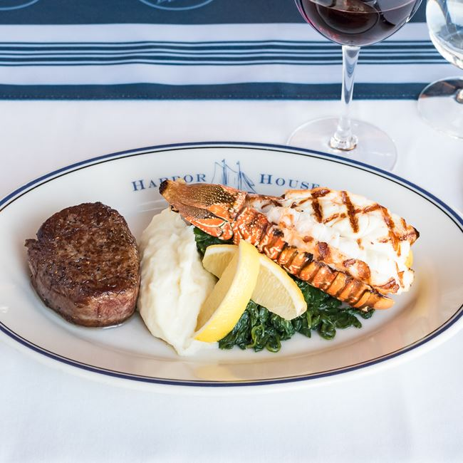 Filet Mignon & Lobster Tail  at Harbor House