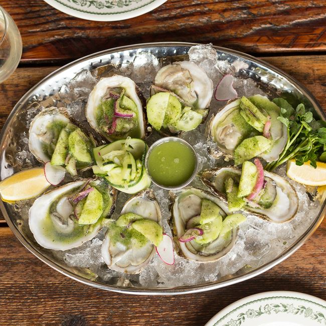 Oysters on the Half Shell at Fuel Café