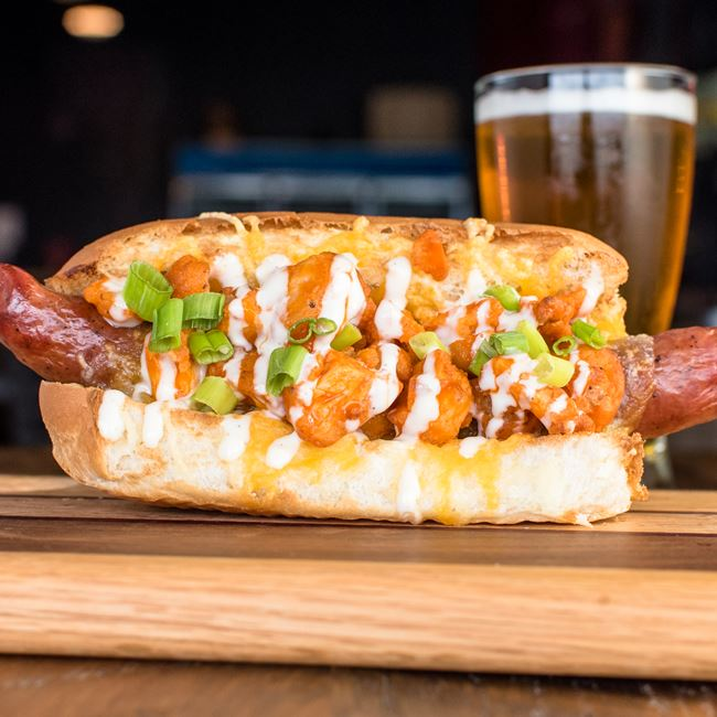 Buffalo Chicken Dog at The Fermentorium Brewery and Tasting Room
