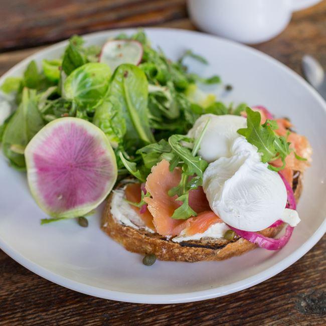 Salmon Gravlax Toast at Fuel Café