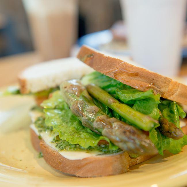 Asparagus Caprese Sandwich at Not Licked Yet Frozen Custard