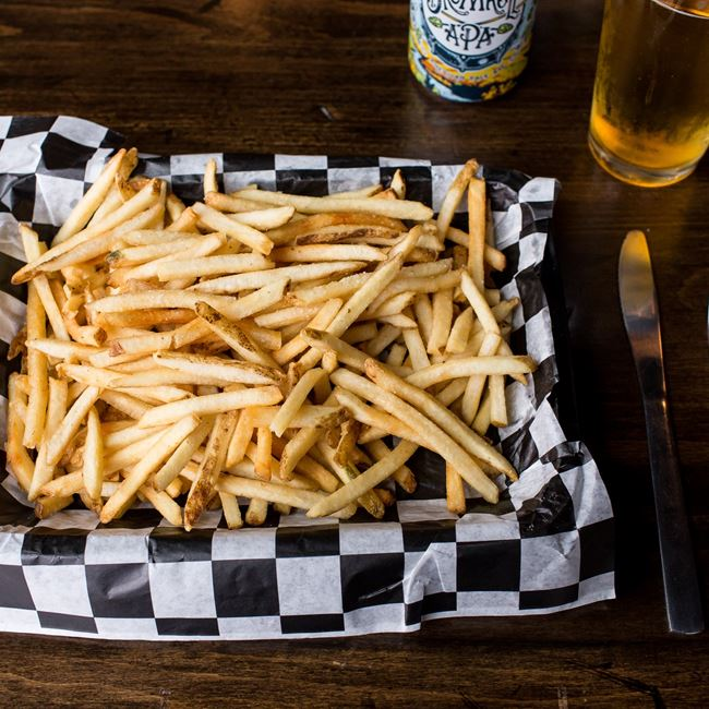 House Made Fries at Biker Jim's Dogs