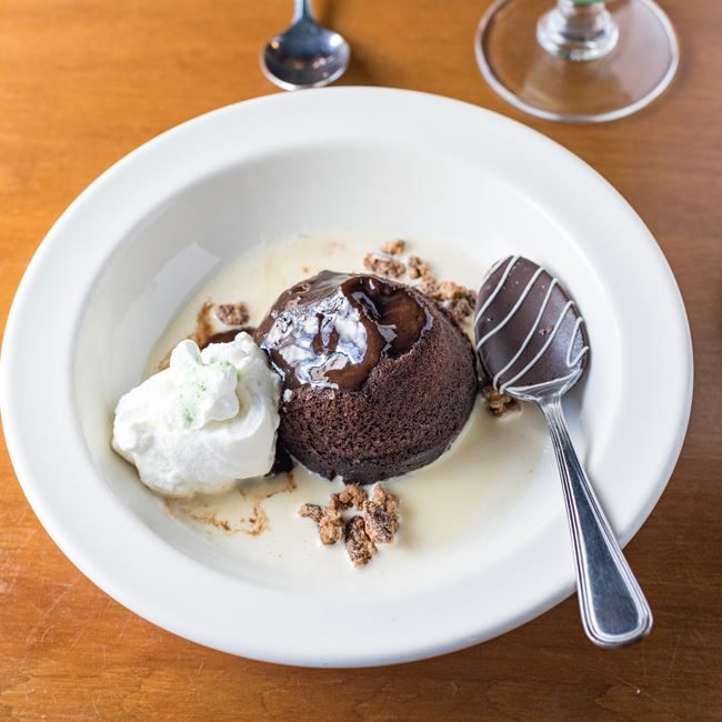 Homemade Lava Cake  at Houligans Steak & Seafood Pub