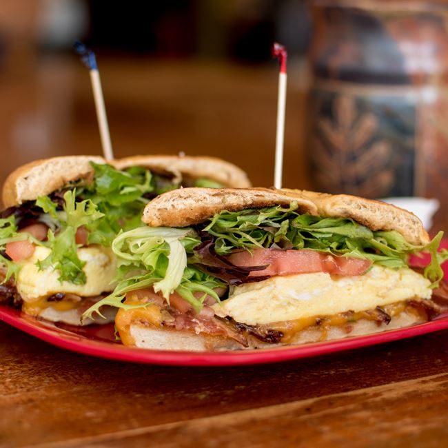 Breakfast BELT Sandwich at Firefly Coffeehouse & Artisan Cheese
