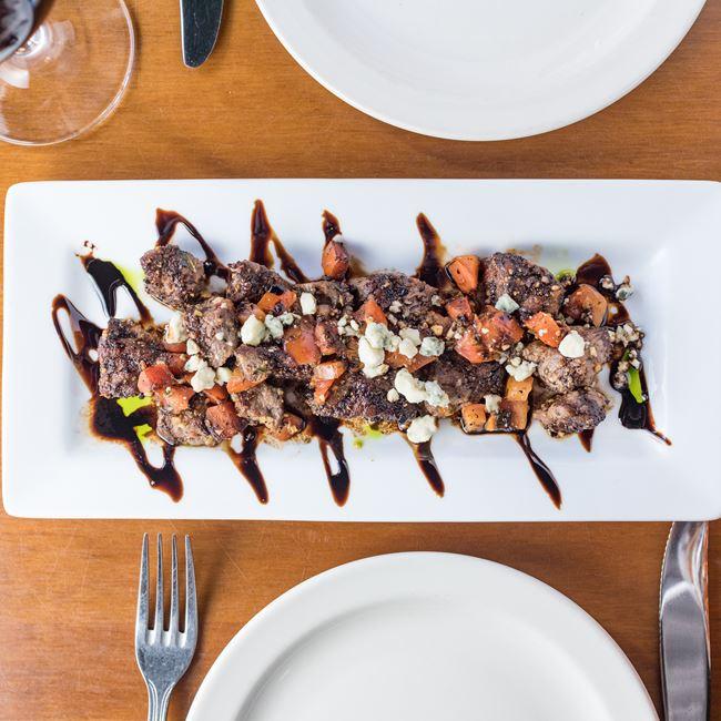 Spicy Steak Bites at Houligans Steak & Seafood Pub