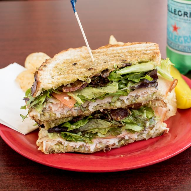 Turkey Pesto Sandwich at Firefly Coffeehouse & Artisan Cheese