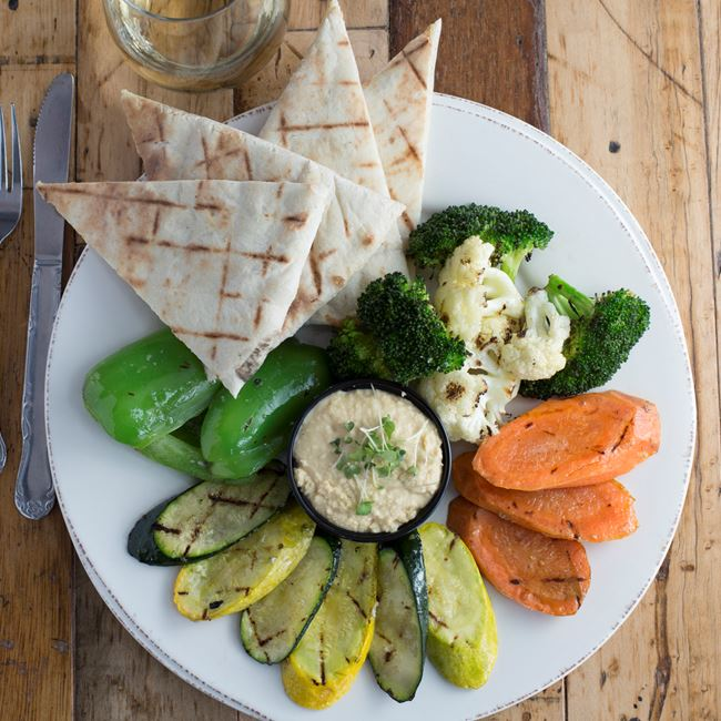 Grilled Veggies and Hummus at Wild Tomato Wood-fired Pizza and Grille