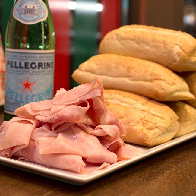 Ham and Rolls at Gouda's Italian Deli