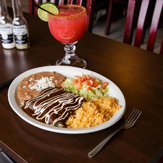 Enchiladas Con Mole At Lalo S Mexican Restaurant