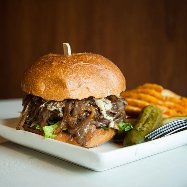 TCO Wagyu Burger at The Corner Office Restaurant + Martini Bar