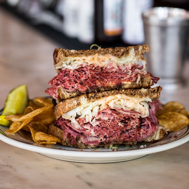 Reuben Sandwich at Tarrant's Cafe