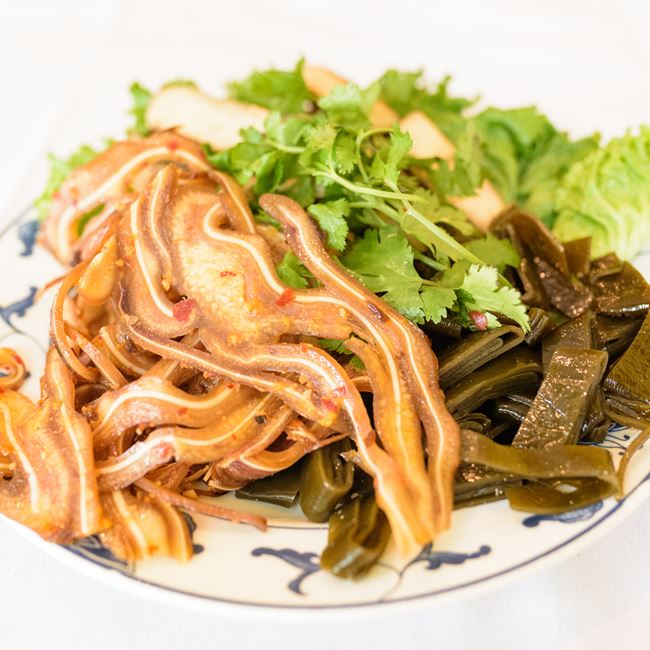 Pig Ear, Seaweed & Dried Tofu at Asian Legend