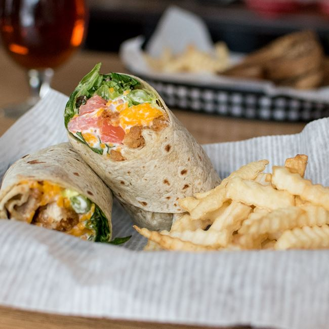 Crispy Chicken Wrap at Sunset Bar & Grill