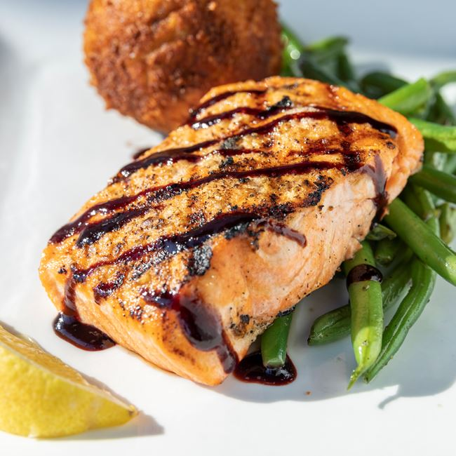 Grilled Salmon at Becket's