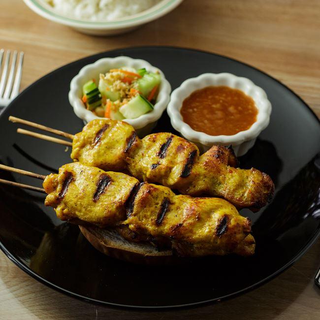 Chicken Satay at Bahn Thai