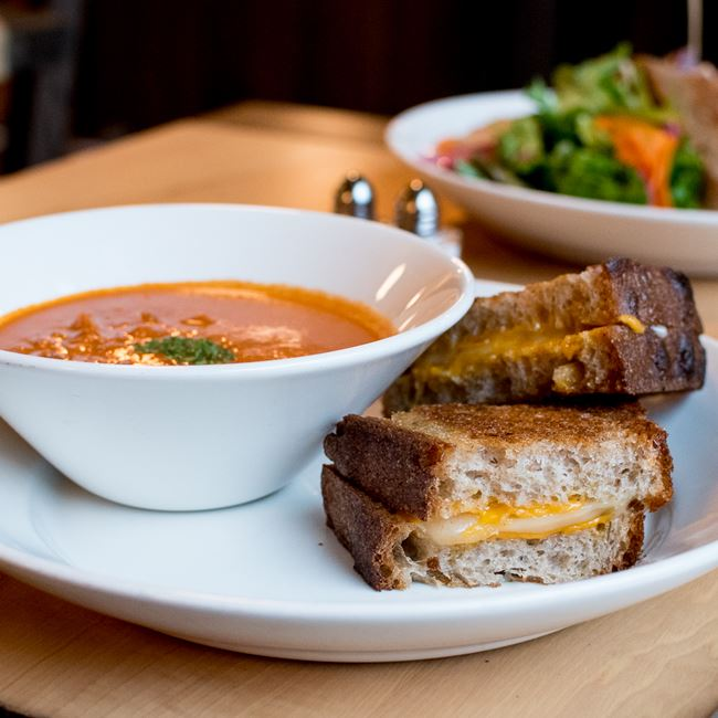 Grilled Cheese & Tomato Soup at Oliver's Public House