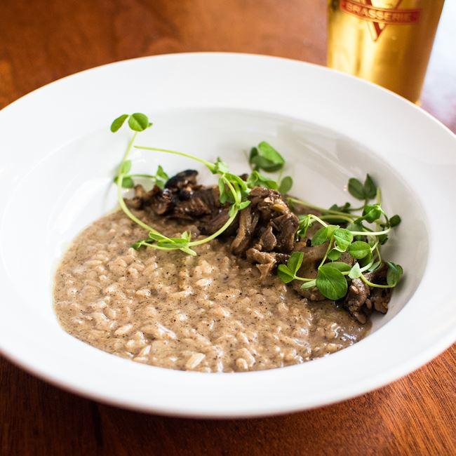Mushroom Risotto  at Brasserie V