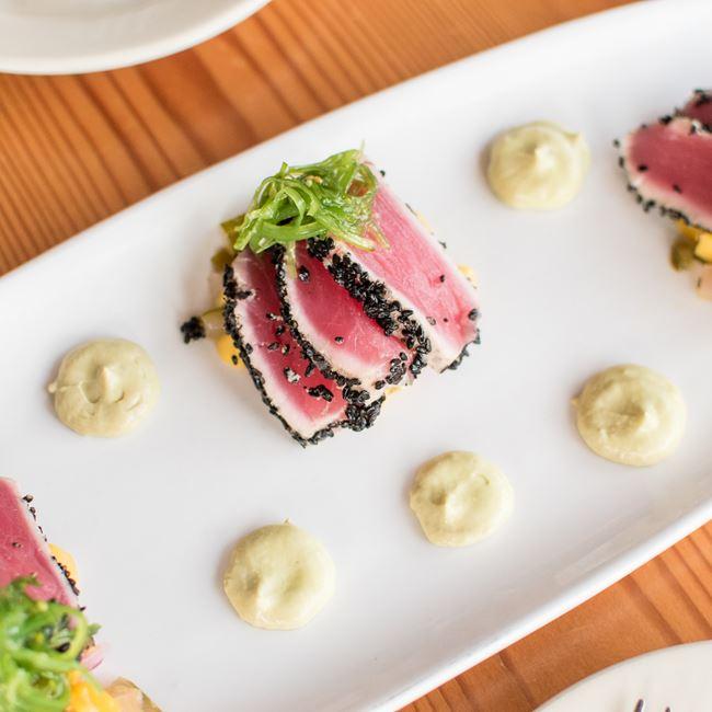 Seared Tuna at TJ's Harbor Restaurant
