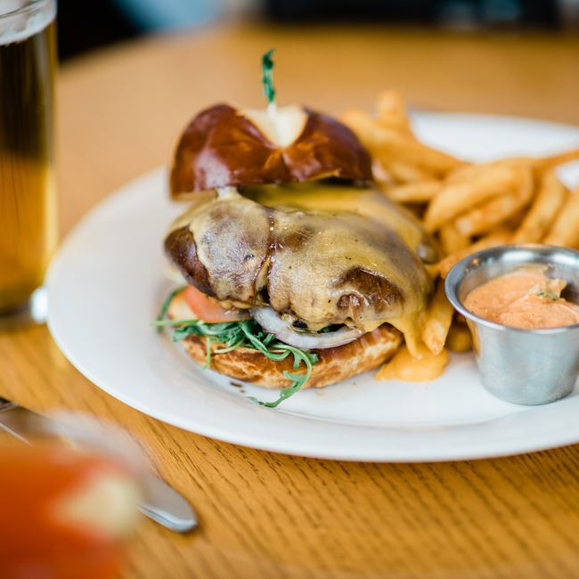 Magic Mushroom Sandwich at Junipers Gin Joint