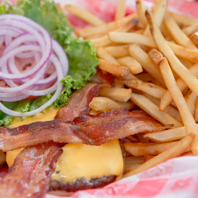 Country Bacon Cheeseburger at Wilson's Restaurant & Ice Cream Parlor