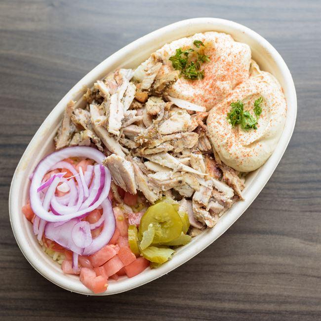 Chicken Shawarma Bowl at Baba Dari Mediterranean Grill