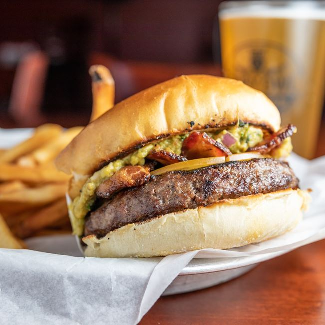Triple Smoke Burger at The Ruby Owl Tap Room