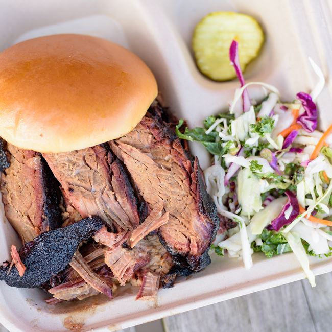 Beef Brisket Sandwich at Westside Barbecue