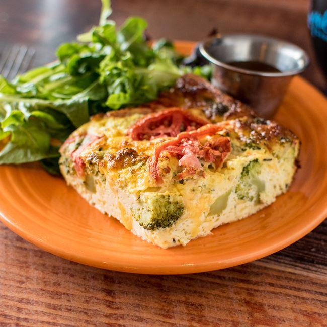 Veggie Frittata at Yola's Cafe