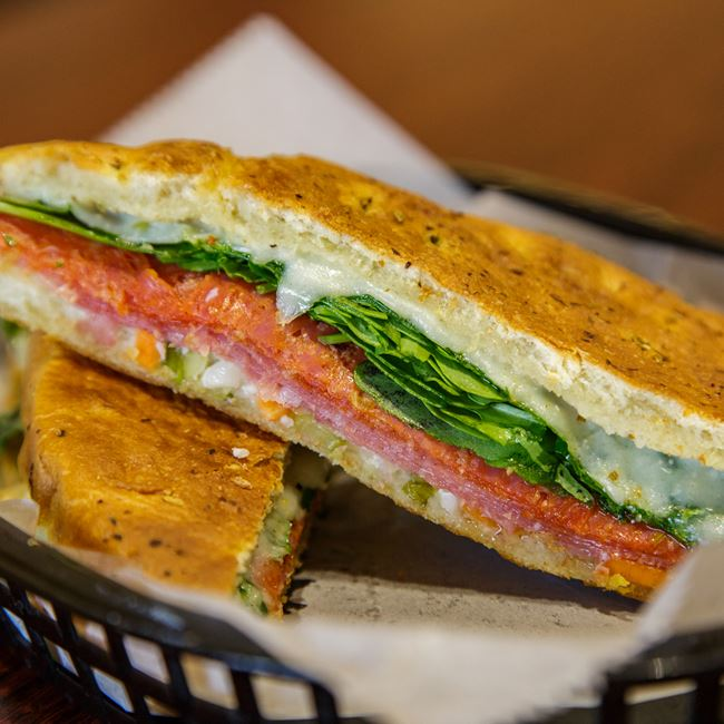 Italian Pressed Sandwich at Brennan's Cellars