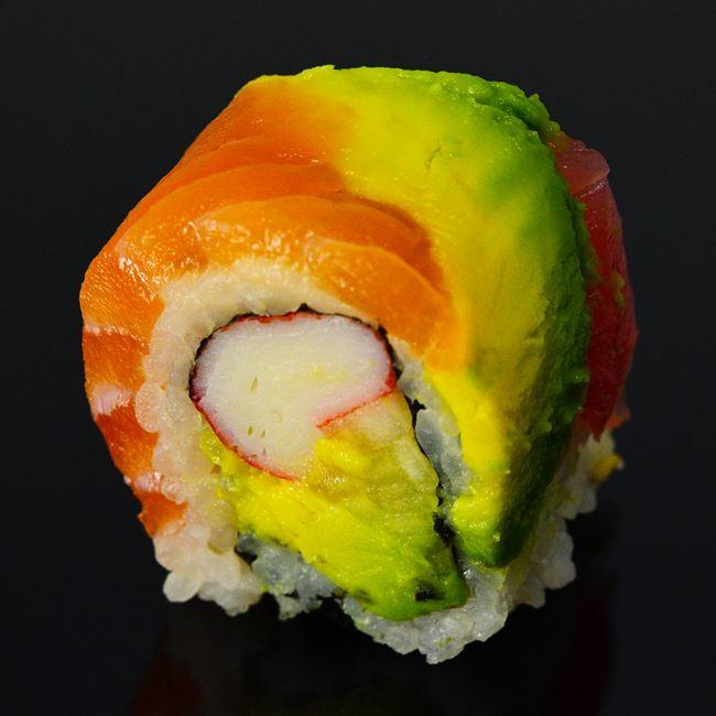 Rainbow Roll at Sushi Express