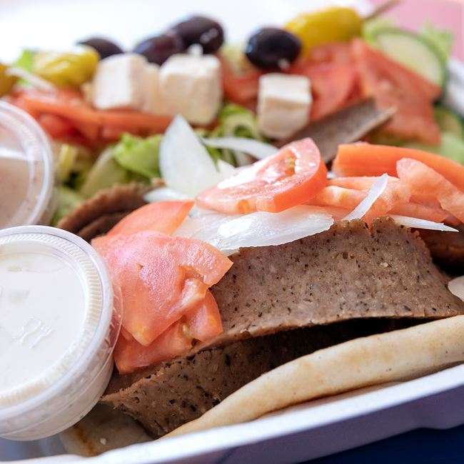 Gyro Plate with Salad at Niko's Gyros