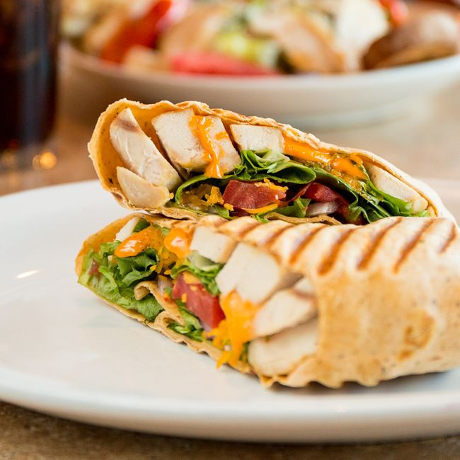 Chipotle Chicken Wrap at Sofra Family Bistro