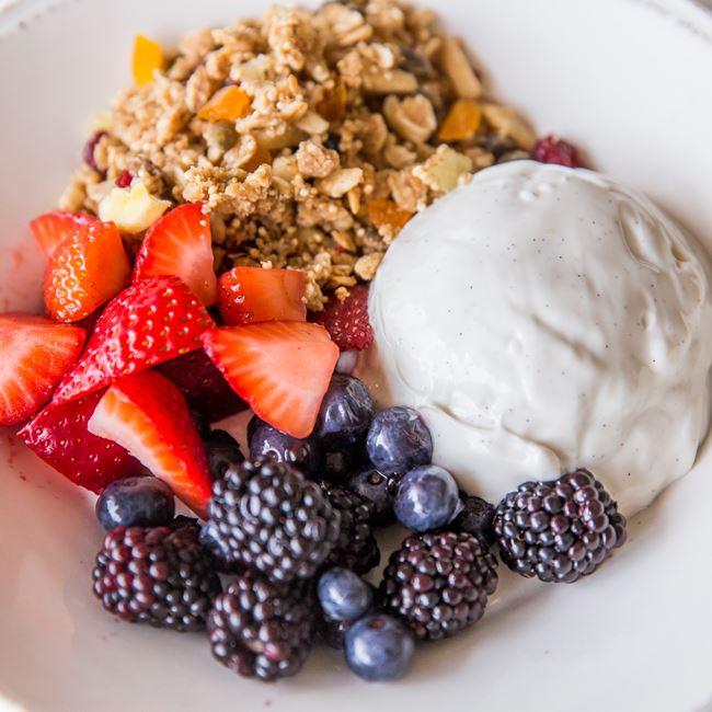 A Big Bowl Of Noosa Yogurt at Morning Collective